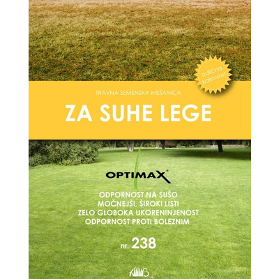 OPTIMAX- Seme trave za SUHE in SONČNE lege nr.238 - 10 kg vreča